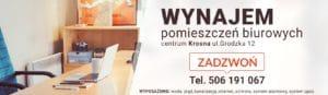 Wynajem powierzchni biurowych, Krosno, Grodzka 12